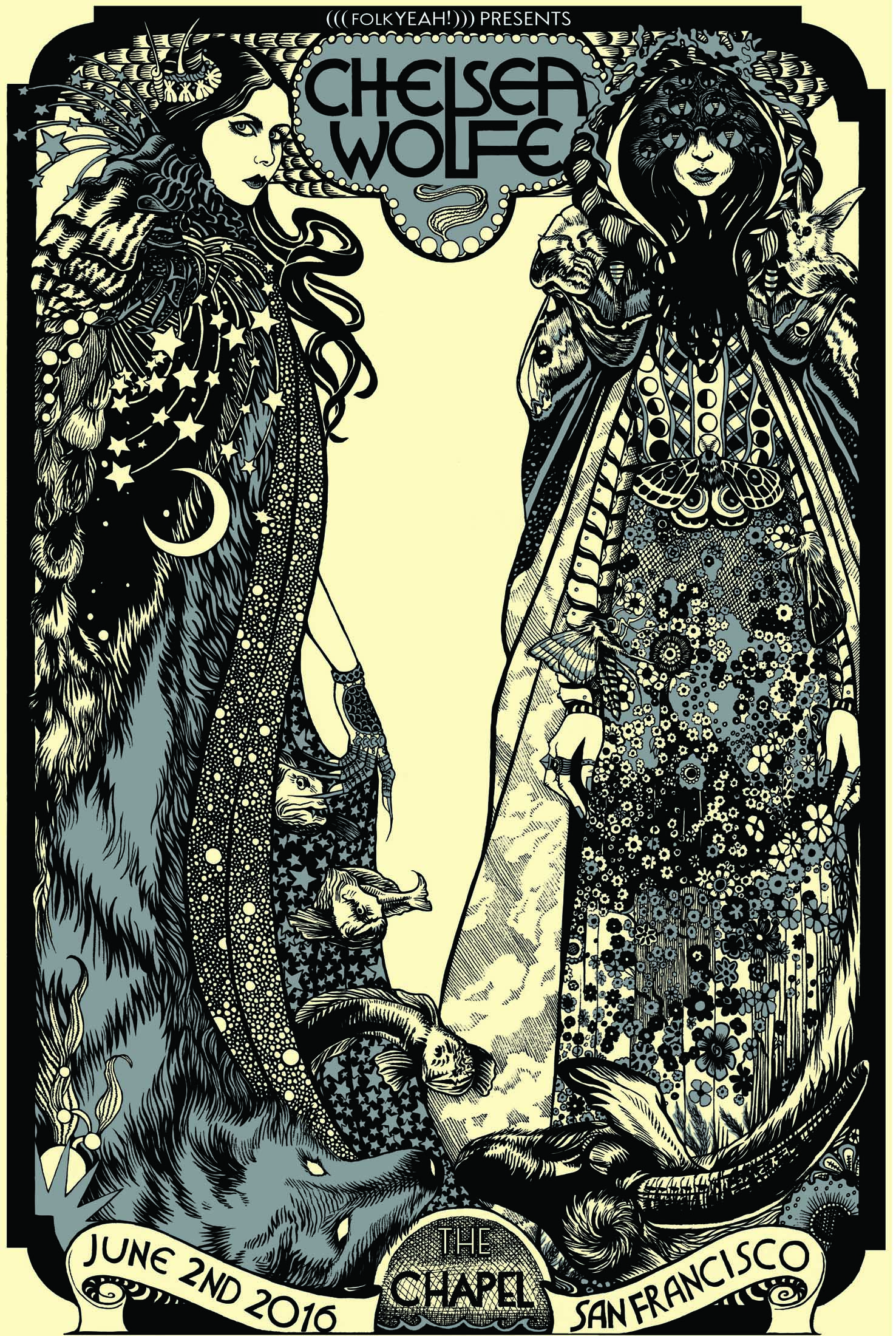 Chelsea Wolfe poster for the Chapel SF